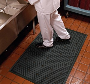 Anti-slip Holes Hollow Ring Interlock Restaurant Commercial Rubber Kitchen Floor Mats