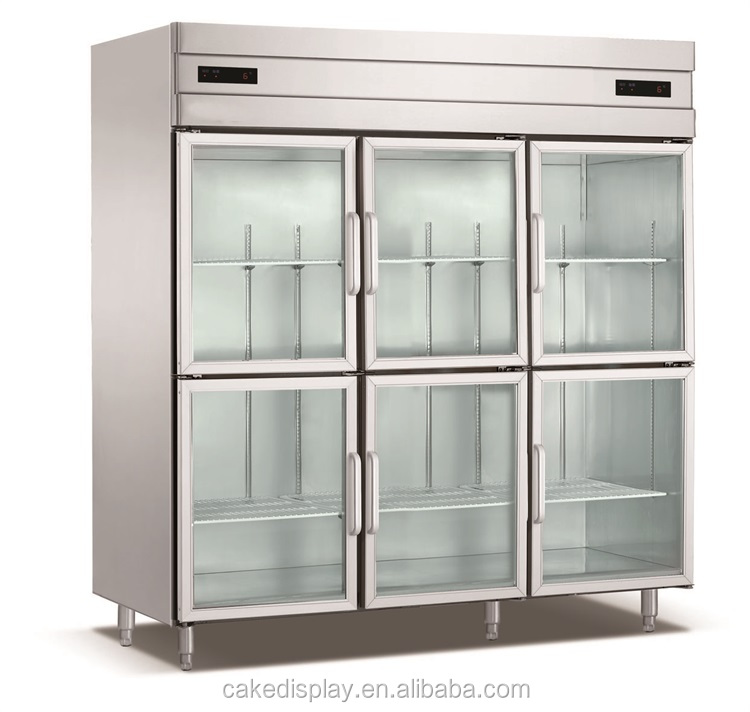6 Glass Doors Commercial Refrigeratorwith Fan Cooling System Buy