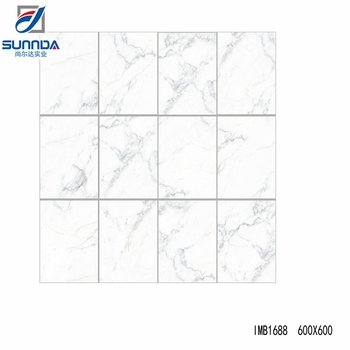 High Quality Cheap Calacatta White Marble Look Glazed Polished