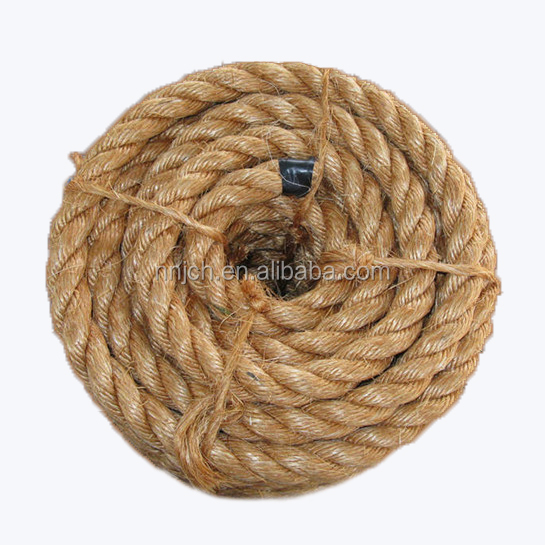 Manila Rope Hemp Rope Marine & Packing Strands for Sailing/Navigation/Army/Civil Utilization