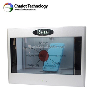 Transparent LCD touch screen video showcase, Transparent LCD display, see through boxes transparent lcd fridge for advertising.