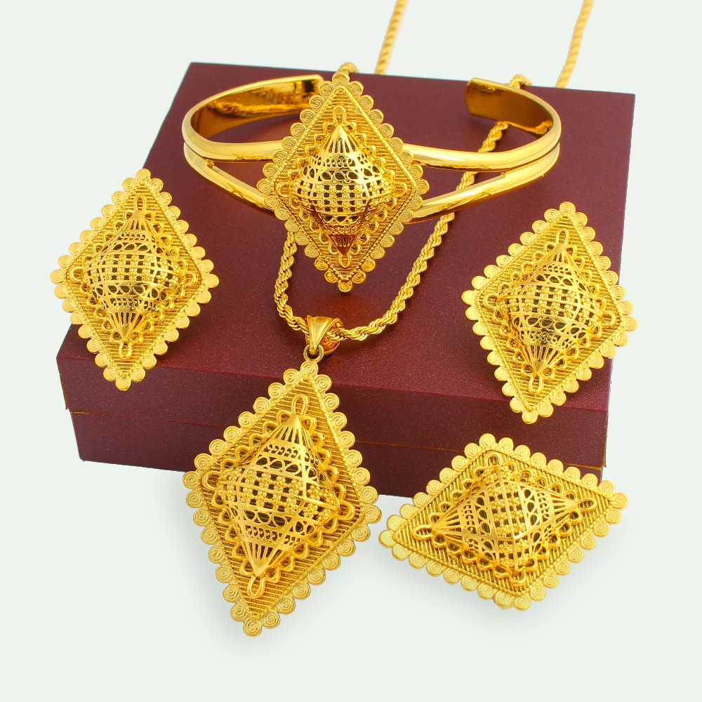 Saudi 18k Gold Plated Heavy Jewellery