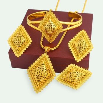 Saudi 18k Gold Plated Heavy Jewellery Price High Quality Jewelry Set