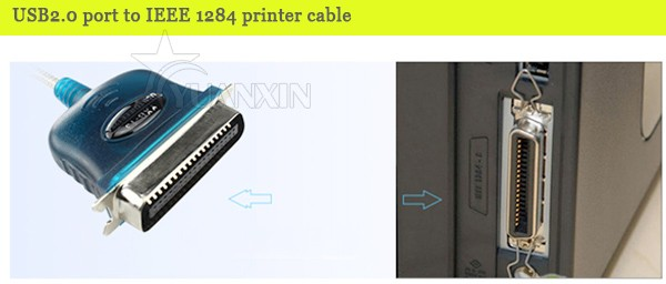 Classic ROHS,CE,UL certified USB 2.0 AM to ieee1284 printer cable