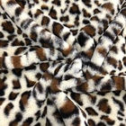 Changshu 100% polyester custom leopard printed rabbit fur fleece fabric for home textile