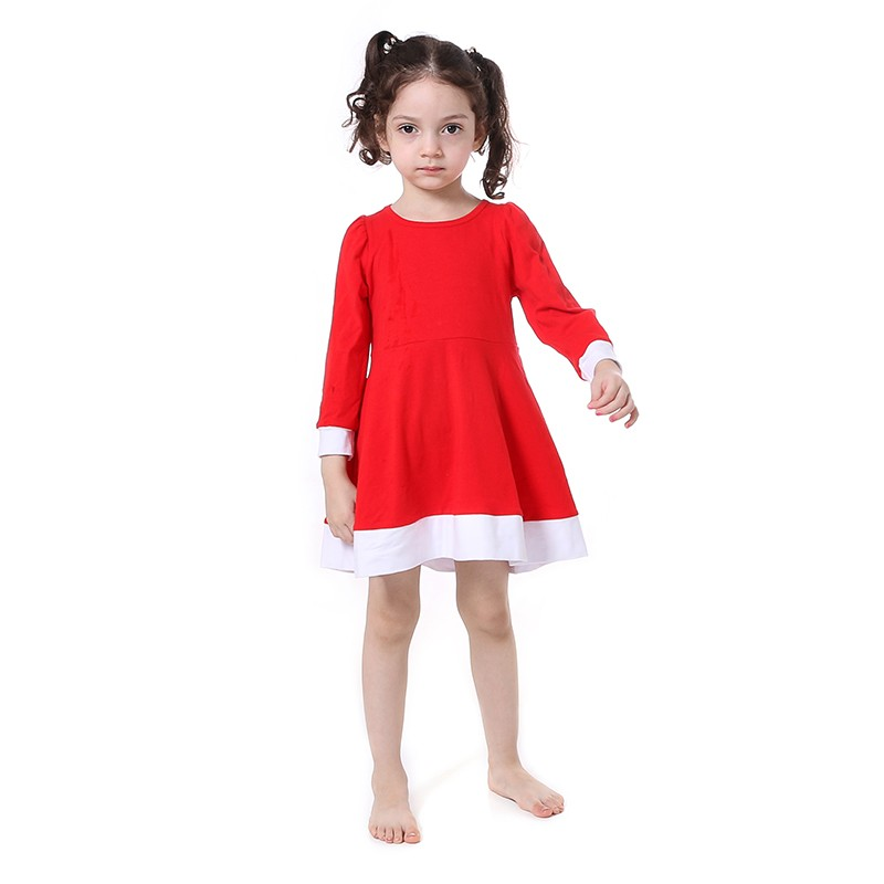 Casual Solid Color Ruffle Long Sleeve Cotton Children