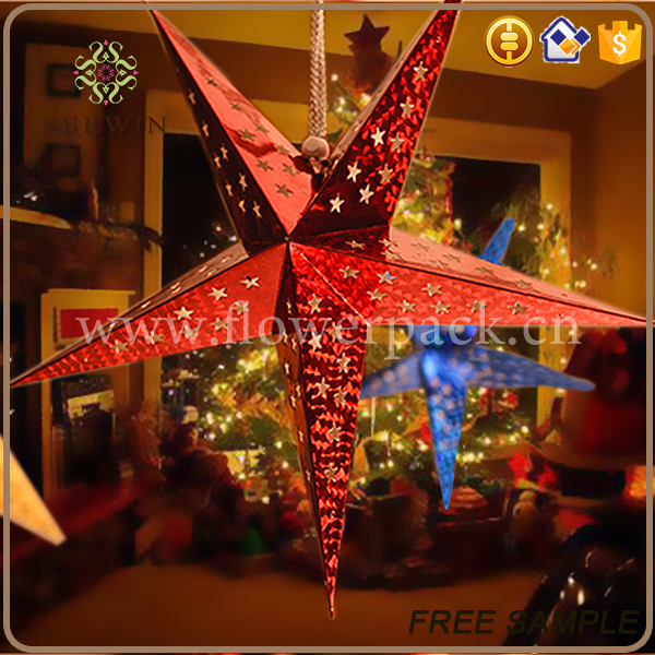 wholesale holiday supplies gold star christmas decoration