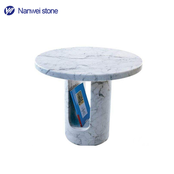 U Shaped White Glossy Solid Surface Modern Desk Design Book Table Marble  Reading Table Design