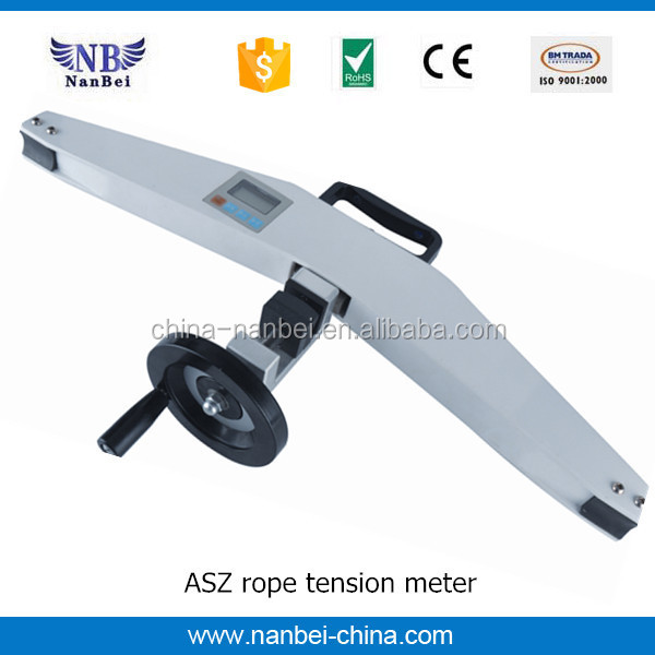 Digital 3000N elevator rope tension meter