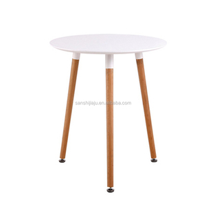 Cheap restaurant chair for sale MDF round top wooden legs fast food restaurant table
