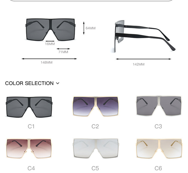 Square Big Frame Best Quantity Custom Sunglasses