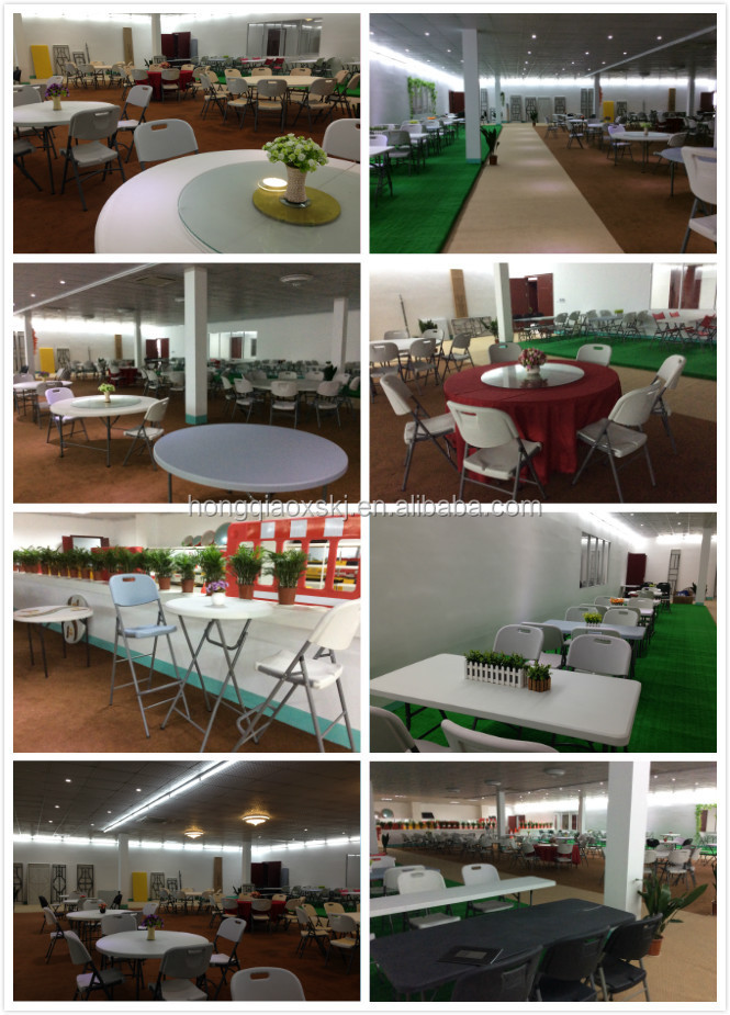 4 Plastic Folding Moon Half Round Table For Event And Rental Banquet
