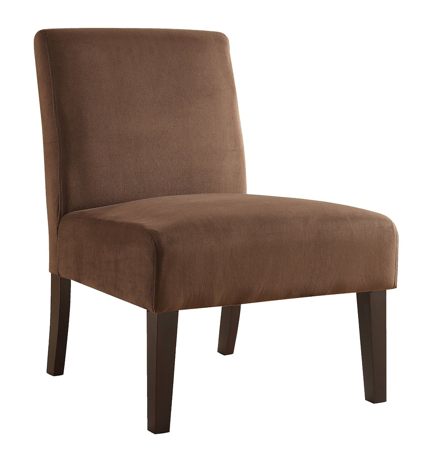 Get Quotations Ave Six Laguna Accent Chair With Espresso Finish Solid Wood Legs Chocolate Velvet Fabric