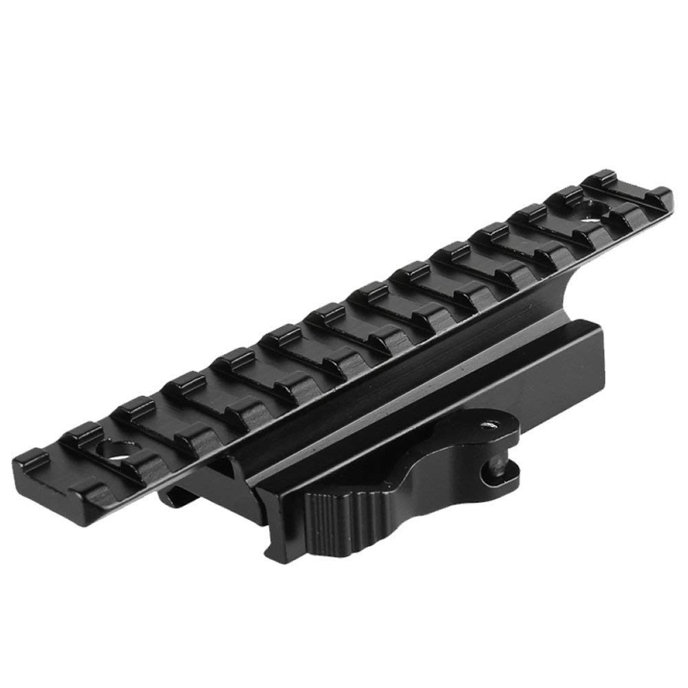 ea0f1dbba Get Quotations · Higoo Quick Release Picatinny Weaver Scope Rail Mount  Riser Adapter 13 Slots