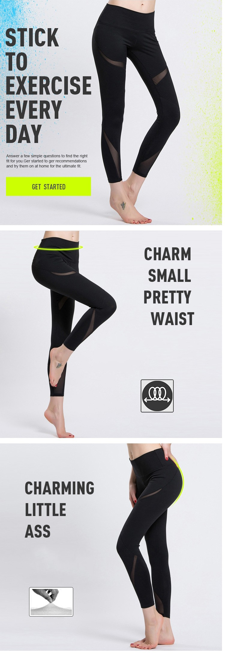 High Elastic Girls Yoga Sport Pants Quick Dry Women Fitness Running Leggings