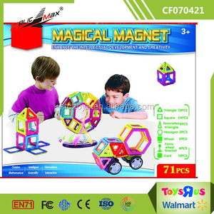 Creative Thinking Spatial Logic Toy Magic Connect Blocks Kids Magnet Toys-71 Piece