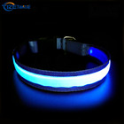 usb rechargeable christmas light up bright dog collar de perro luces led dog collar