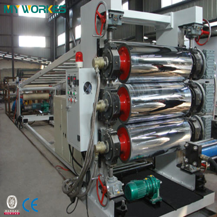 plastic PET sheet making machine extruder extrusion production line