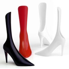 Personal care design portable screen logo women use lounge sitting room lifter decorative standing plastic high-heeled shoe horn