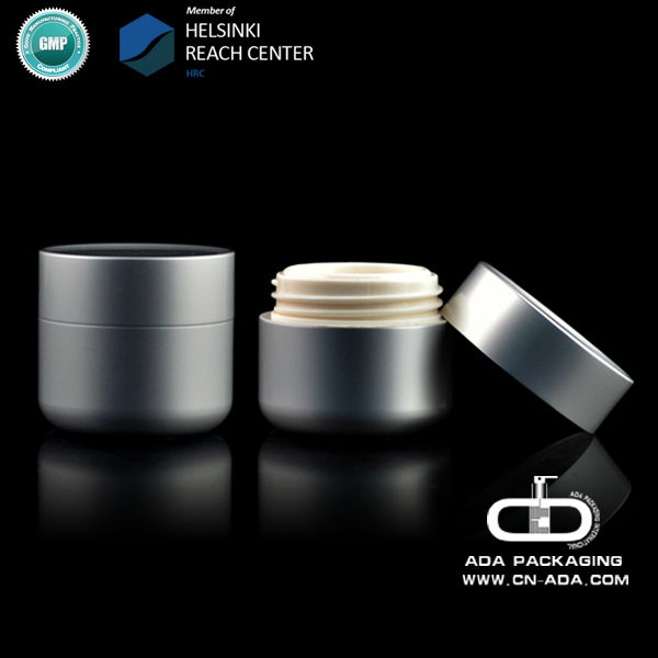 ADA-CP-312 15g aluminim round double wall cream jar/cosmetic jar/plastic jars food grade new product 2016
