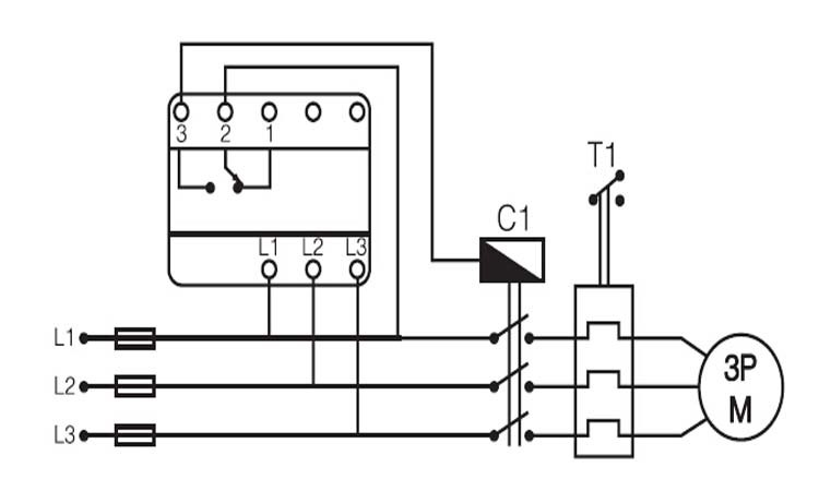 connection diagram ac380v 5a phase sequence voltage unbalance mk-06 phase  failure relay