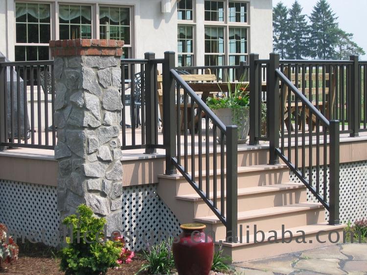 Martel noir ext rieur escalier garde corps maison cl ture for Main courante escalier exterieur aluminium