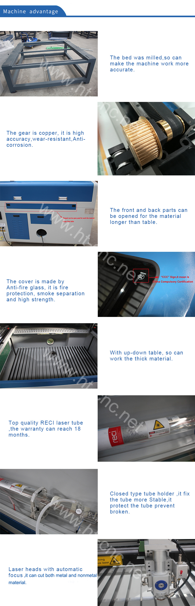 Multifunctional 1390 150/180/280/300W mixed  Metal and nonmetal mdf laser cutting machine price