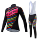 Black Red Cycling Wear For Women Hot Selling Wholesale Men/Women's Cycling Clothing Long Sleeve Set