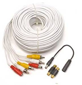 Q-See QS120F Audio, Video & Power 120 Foot Extension RCA Cable