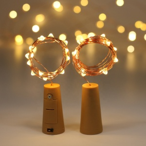 Red Wine Bottle Cork Lights Copper Wire String Lights for Wedding Festival Party, Bike Glass Salt Water String Light Decoration