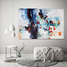 Hand made great abstract grey and white Textured large abstract painting on canvas extra large art work for living room