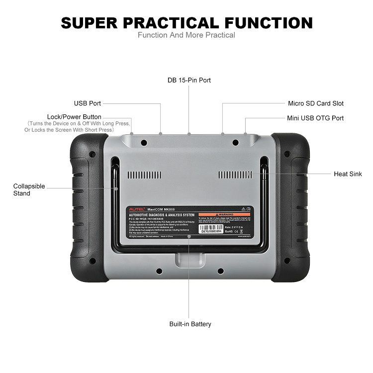 Best automotive OBD2 car diagnostic scanner tool Autel MaxiCOM MK808 with full system diagnose