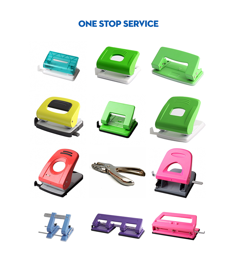 Stationery Set with Pen Holder Puncher Tape Dispenser Clip Dispenser Stapler for Office School Supplies