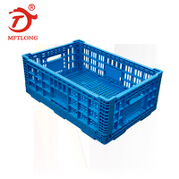 Industrial high quality grid surface collapsible folding plastic crate from Mftlong