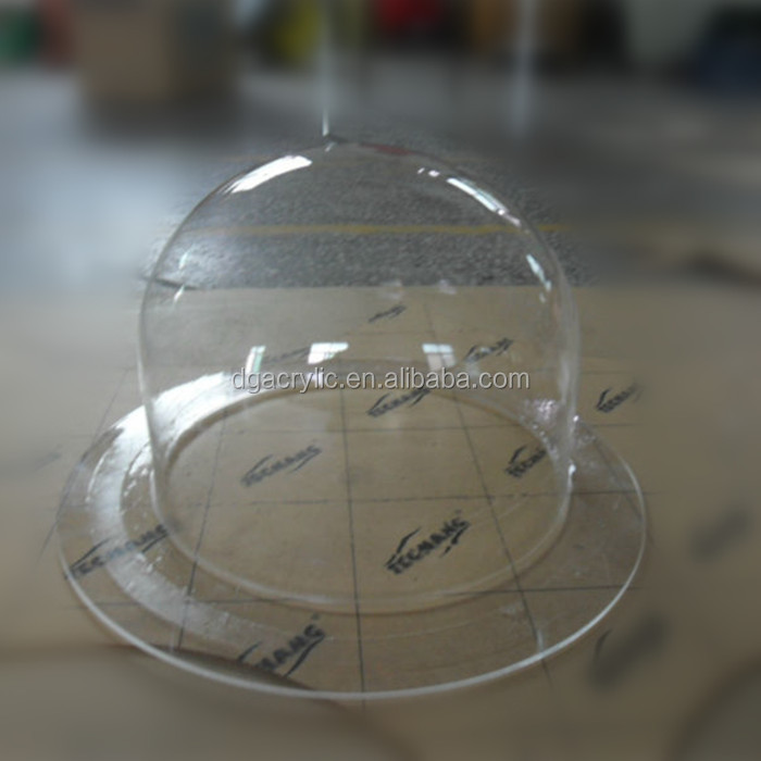 wholesale plastic hemisphere hollow acrylic dome display