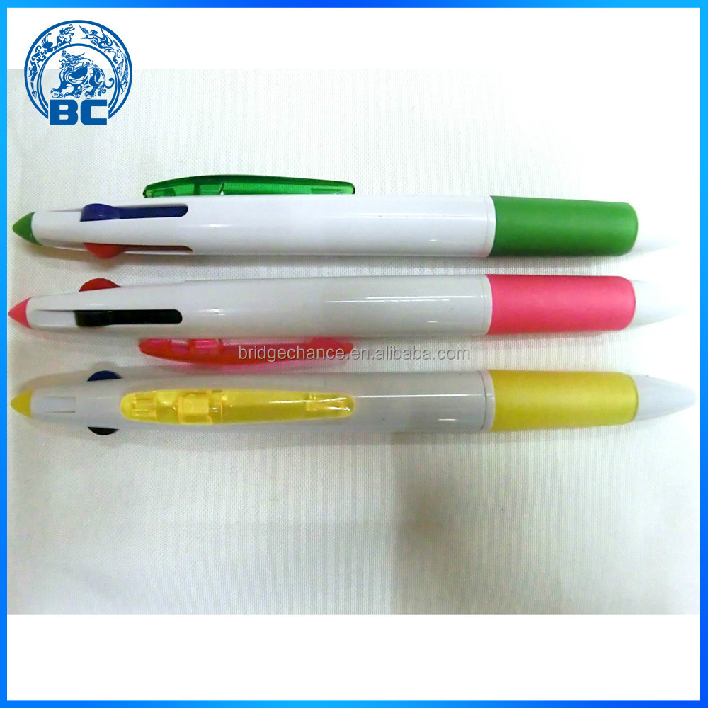 Three Color Multicolor Plastic Ballpoint Pen Ballpoint Pen Tip