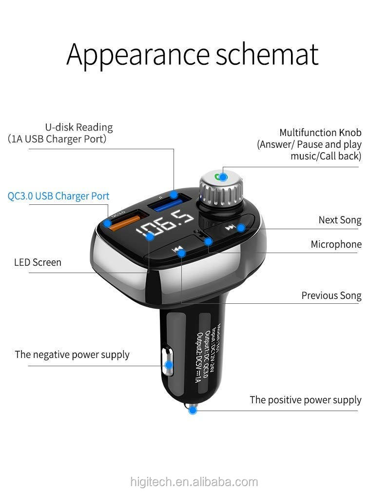 HG car kit bluetooth fm transmitter auto radio MP3 Player usb ladegerät bluetooth car kit