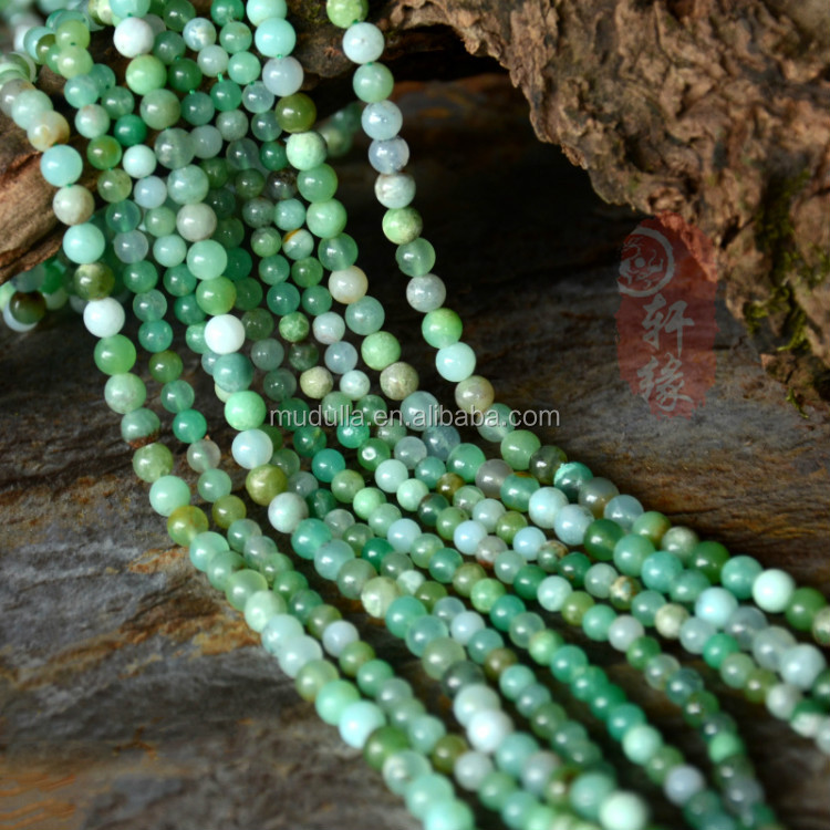 A16032335 Full Strands Mixed color Green Agate Gemstone Beads