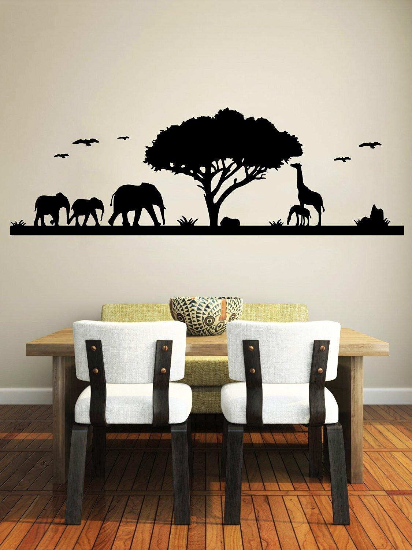 Jungle Animals Safari Wall Decal Baby Nursery Room