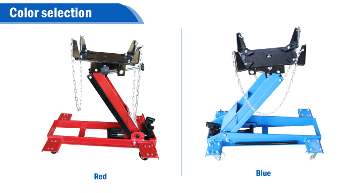 Vertical tool red low position 1.5 ton transmission jack