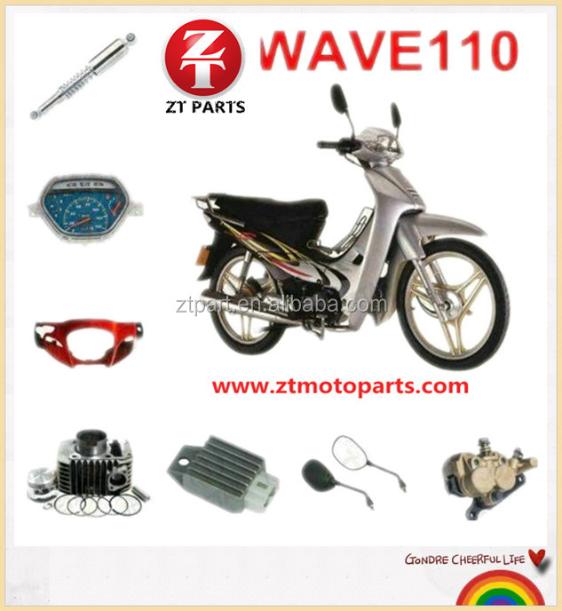 China Suppliers!!CHINA Honda WAVE110 Motorcycle Parts repuestos para motocicleta for South America