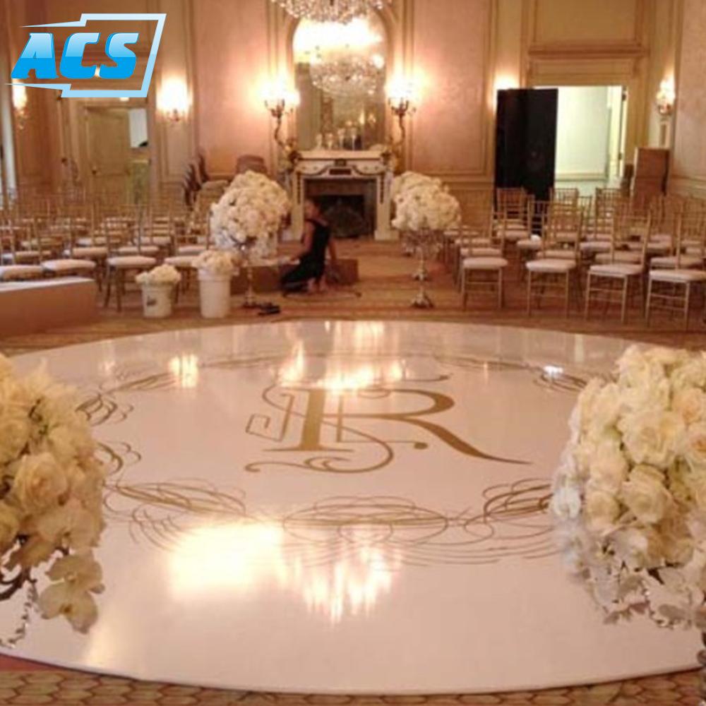 seamless wedding white round portable dance floor