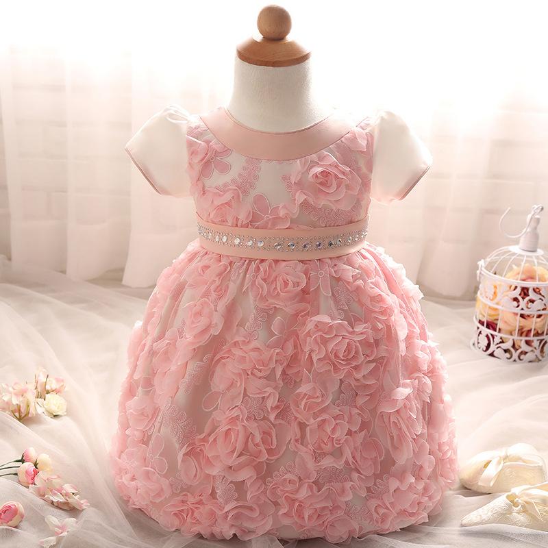 Recién Nacido Del Bebé Del Nuevo Diseño Vestido De Bautismo - Buy ...