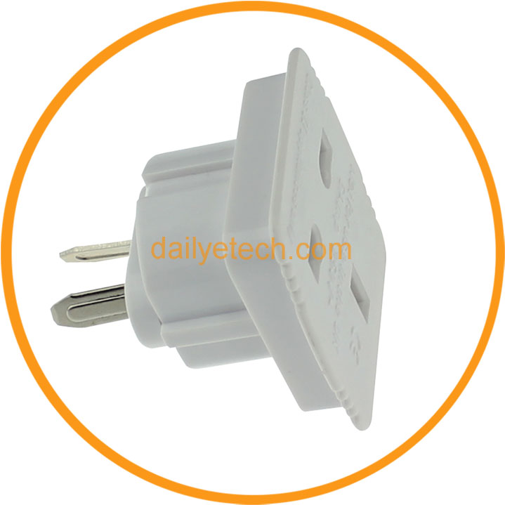 UK To AU US plug Adapter AC Power Plug UK Travel Converter Adapter with CE certification from Dailyetech