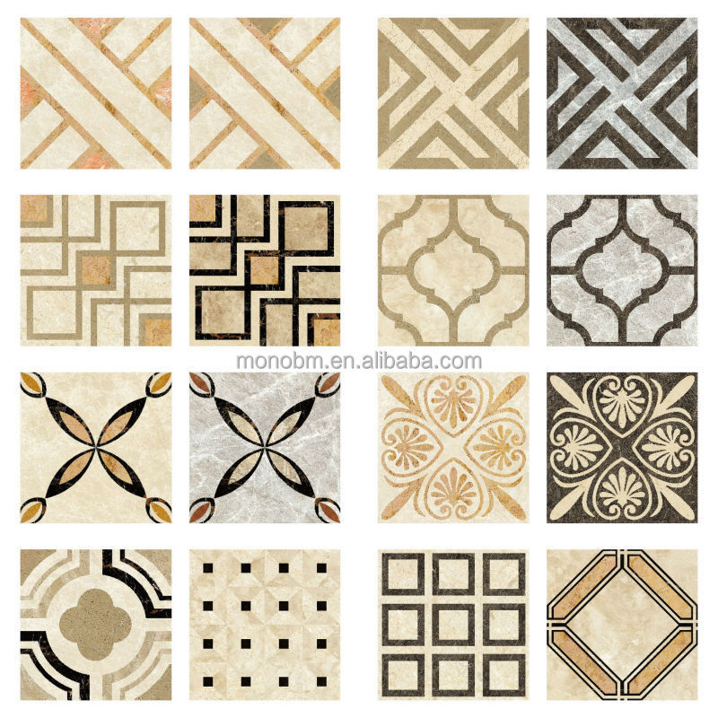 Marble Floor Designs Patterns : Italian waterjet beige stone polished marble pattern floor