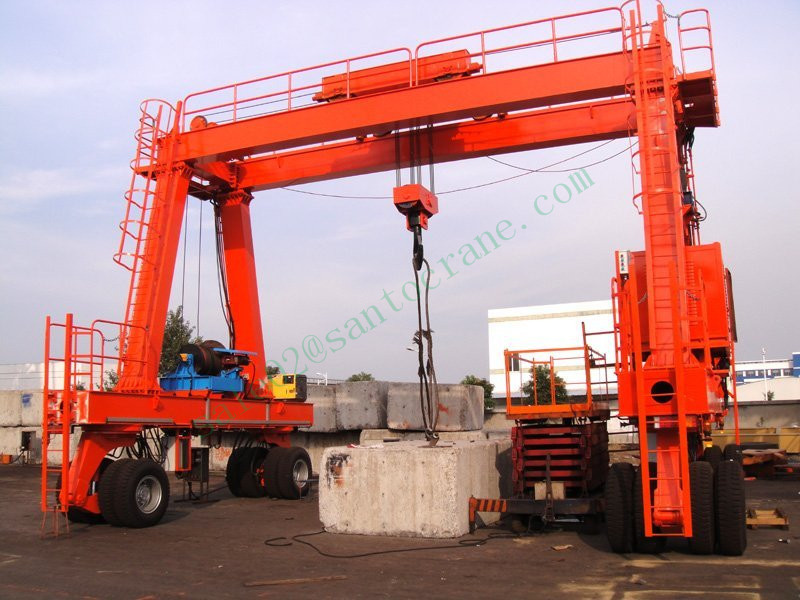 Rubber Tyred Gantry Cranes Translate : Double girder rail mounted rubber tyred bridge