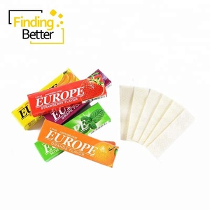 Hot Sale 5 Stick Europe Candy Fruit Banana Strawberry Grape Orange Flavor Xylitol Free Chewing Mint Gum