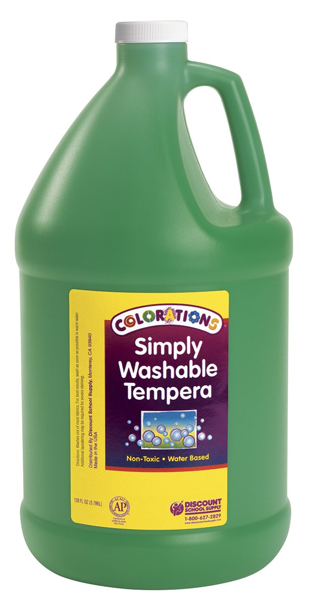 Colorations GWSTGR Colorations Simply Washable Tempera Paint, Green