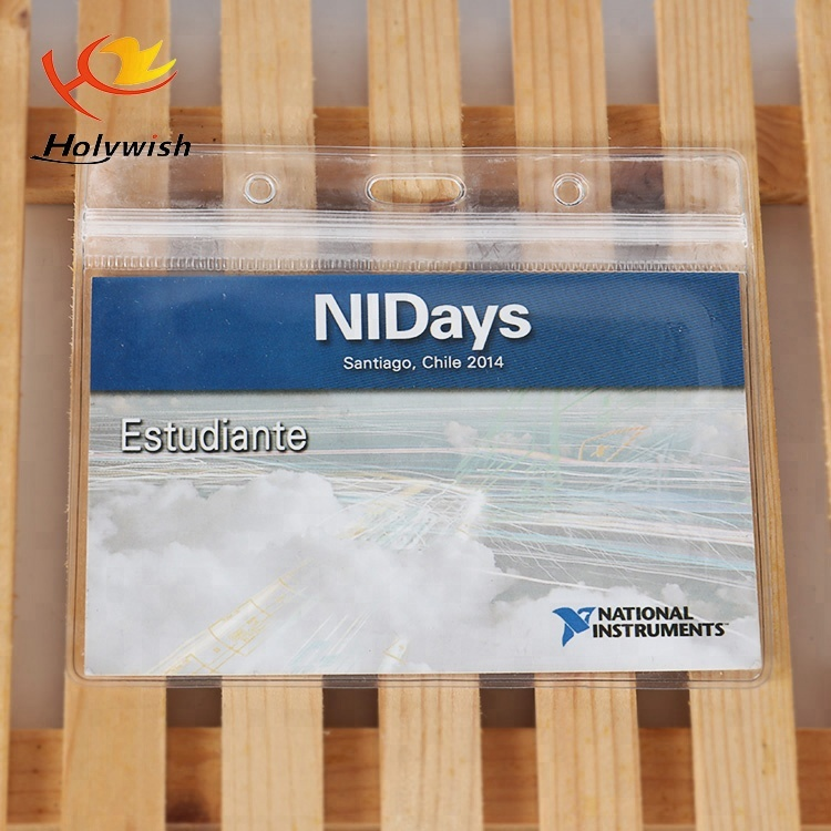 Promotional Good Selling ID Holder/ ID Card PVC Pouch for Exhibition
