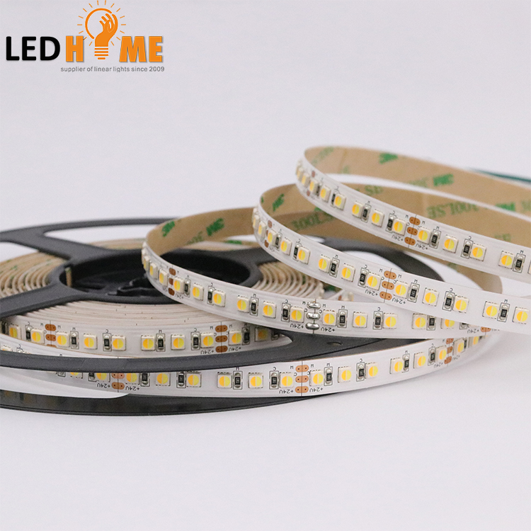 China Manufacturer 120 LEDS warm white +cold white CCT 3838 SMD Flexible LED Strip Light for Decoration